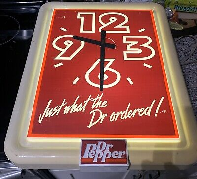 Vintage Dr Pepper Lighted Clock Just What The Doctor Ordered