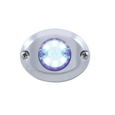 "6 Led 1"" Mini 12V Flush Mount Warning/Strobe Light - Blue"