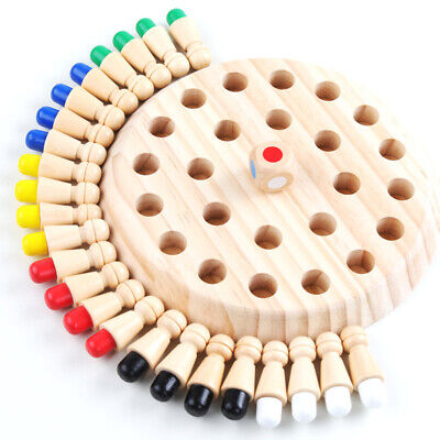 Educational Wooden Memory Match Sticks Cognitive Ability Toy Chess Board Game