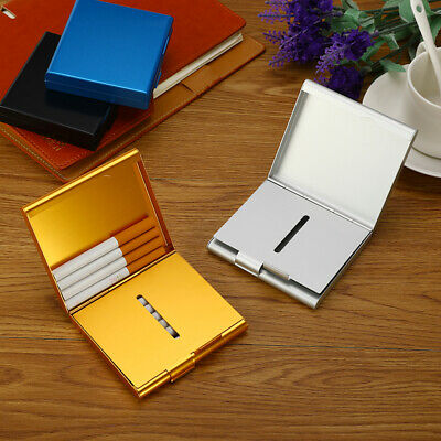 Double Layer Metal Pocket 20 Cigarette Case Cigar Box Tobacco Holder Container