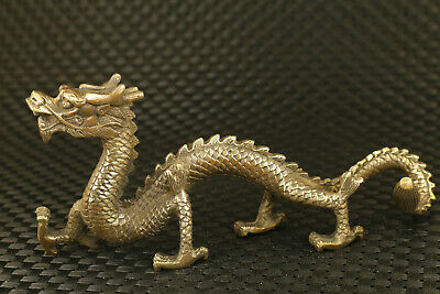 Big chinese old bronze hand casting dargon statue valuable decoration fine gift