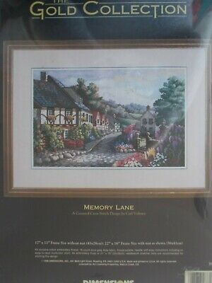 Memory Lane D03817 Dimensions Counted Gold Cross Stitch Kit