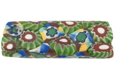 Old African trade bead antique millefiori Venetian glass mosaic large rare
