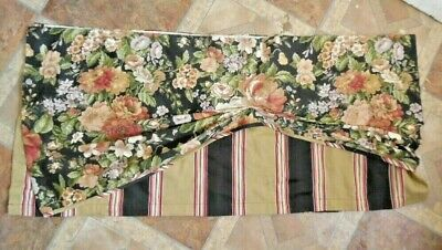 Waverly Home Villa Carlotta Floral & Striped  Layered Valance 74x17