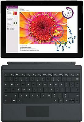 """Microsoft Surface 3 WiFi + AT&T LTE 128GB Tablet 10.8"""" Atom Quad Core w Keyboard"""