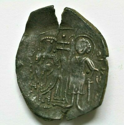 LATIN RULERS OF CONSTANTINOPLE (1204-1261). TRACHY. LARGE MODULE. 29mm., 2,47g.