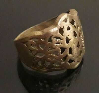 Antique Ancient Ring Viking Bronze Lake Ladoga Artifact Unique Rare Jewelry Old