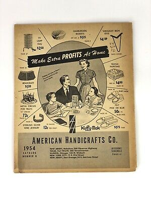 Vintage 1954 American Handicrafts Co. Makers Catalog How-To Mid Century 50s