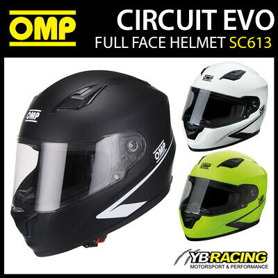 OMP CIRCUIT EVO Helmet Rally Race Racing YELLOW FLUO Sport Protect ECE Approved