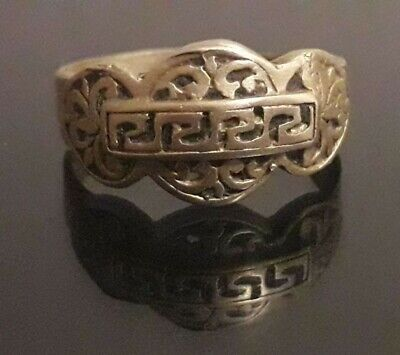 Ancient Amulet Ring Viking Bronze Stunning Odin Jewelry Artifact Very Rare Type