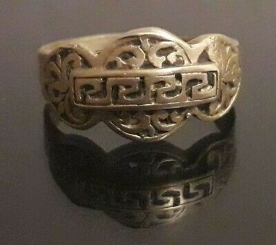 Ancient Ring Viking Bronze Amulet Stunning Odin Jewelry Artifact Very Rare Type