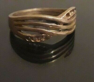 Roman Ring Bronze Ancient Very Rare Artifact Medieval Jewelry Stunning Old Type