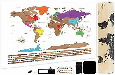 Scratch Off World Map Poster-A2 Of The World, Detailed Travel 59.4 X 42Cm