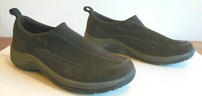 L.l.bean Men Brown Slip On Casual Suede & Nylon Shoes Sz 12 Worn Once Great