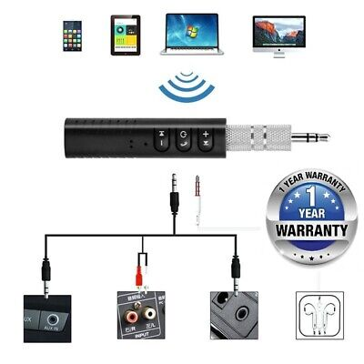 Wireless Bluetooth v4.1 Transmitter Stereo Music 3.5mm Adapter AUX Car Receiver