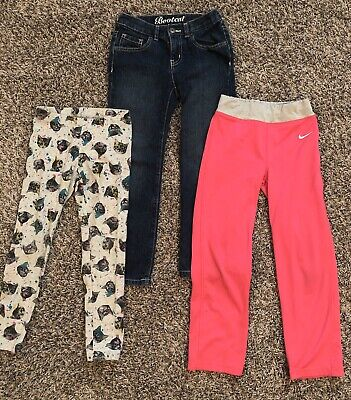 Girls Lot Of Pants Crazy 8 Jeans, Cat&Jack Leggings, Nike Athletic Size 6/6x