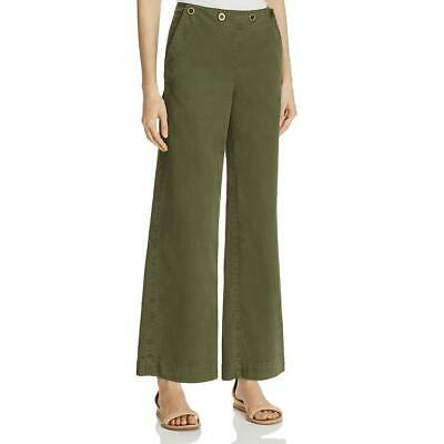 Theory Womens Namid Green Wide Leg Ankle Casual Chino Pants 4 BHFO 1712
