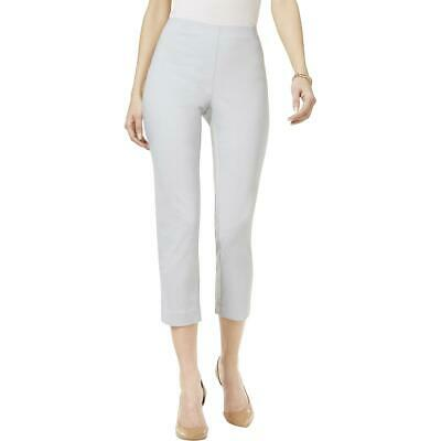 Style & Co. Womens Gray Mid Rise Comfort Waist Pull On Capri Pants XXL BHFO 8212