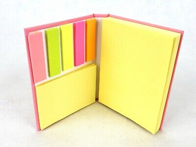 Pink Sticky Notes Pocket Book, 250 Assorted Sheets, Notes, Tags & Flags, #DA460