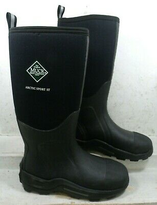 The Original Muck Boot Company Mens Arctic Sport ST Black Safety Boots size 11 M
