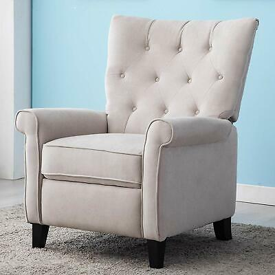 Elizabeth Recliner Accent Chair Elegant Single Push Back Chair With Roll Arm