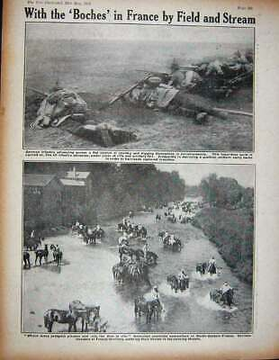 Original Old Antique Print 1915 Ww1 French Armoured Train Siers German France