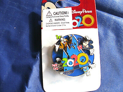 Disney Parks * DATED 2020 - MICKEY & FRIENDS - Spinner * New on Card Trading Pin