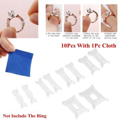 Jewelry Tighteners Resizing Tools Reducer Adjuster Pad Ring Size Adjuster Set
