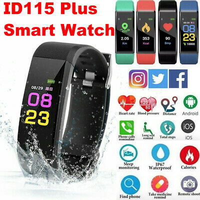 Fitness Smart Watch Activity Tracker Fitbit Android iOS Heart Rate Women MenKid/