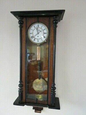 Antique German Single Weight Vienna Wall Clock For Restoration