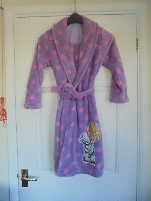 Pecial Girlie Soft Dressing Gown  M&S 9-10 Yrs lilac  pink spotty Tatty Teddy