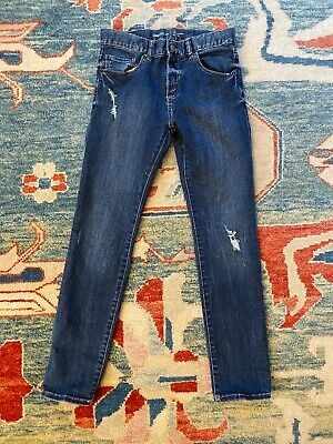 Gap kids boys Skinny Stretch jeans pants, size 14 Distressed