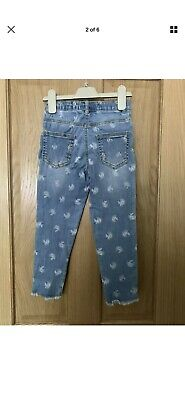 Next Girls Blue Unicorn Jeans - 6 Years