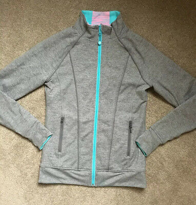 Girls Ivivva By Lululemon Size 14 gray zip jacket stylish VGUC See Description