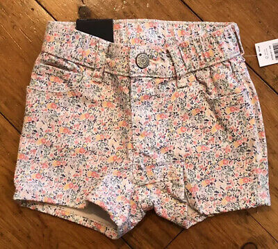 NWT Baby Gap Girls Shortie Shorts  high stretch  denim floral  you pick size