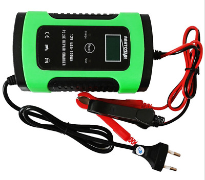 Automatic Pulse Car Battery Charger Maintainer Repair 12V 6A Motorcycle AGM Boat