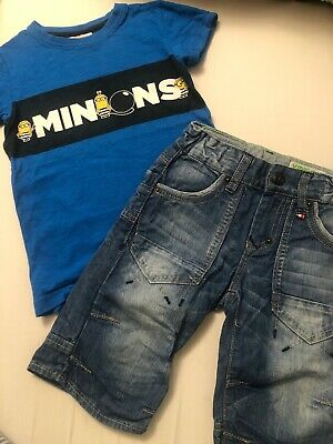 Boys Next T-shirt And 3/4 Jeans, 4 Years In VGC