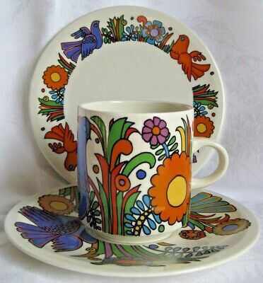 Villeroy & Boch ACAPULCO coffee cup, saucer, and plate, mocha can, tea trio