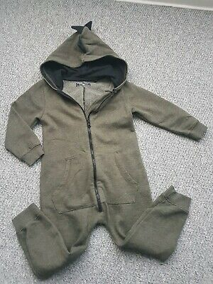 Boys Next Dino All In One Joggers Hoody Age 3-4 Years