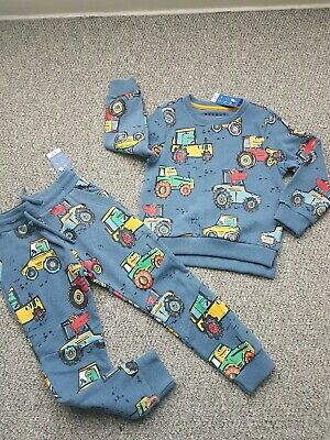 Boys Nutmeg Dino Tractor Joggers Jumper Outfit Set Age 3-4 Years Bnwt