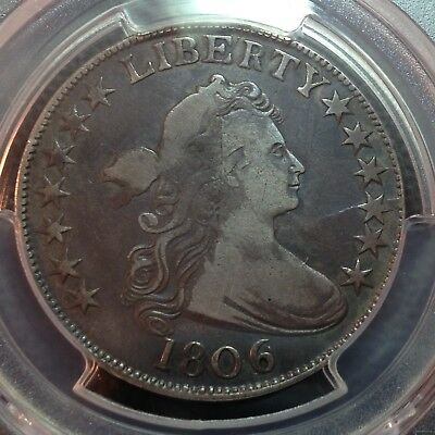 1806/9  6 over Inverted 6  PCGS F-12?  Early Draped Bust Half Dollar Looks VF+