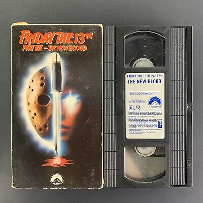 Friday the 13th Part VII: The New Blood (1988) Horror, Thriller VHS Tape