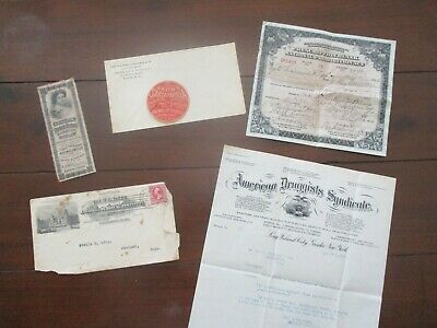1800-1900's (6) QUACK Medical,document,covers,Trade Cards,Druggist letter lot!