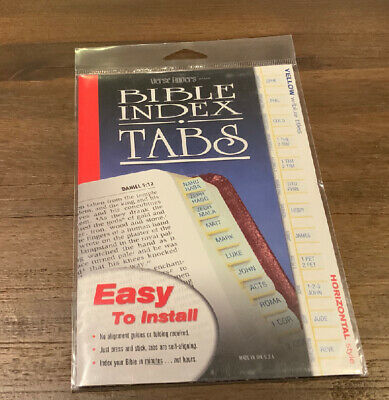 Verse Finders Gold / Black Bible Indexing Tabs - Old & New Testament  !!  New