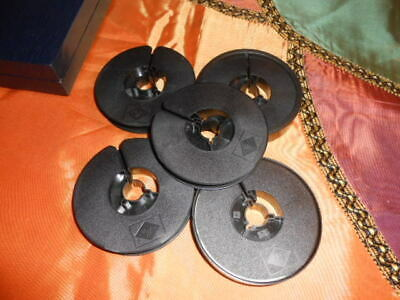 """5 Vintage Agfa Empty  Cine Spools Reels 2 With Cases 3"""" Wide"""