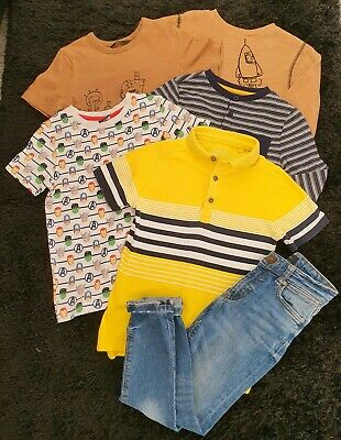 Boys River Island Jeans Jumper Tops Next F&F Bundle Age 5-6 Years