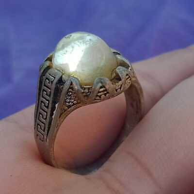 Extremely Ancient Viking Ring Metal Color Silver Ring Scorpion Amazing Stone