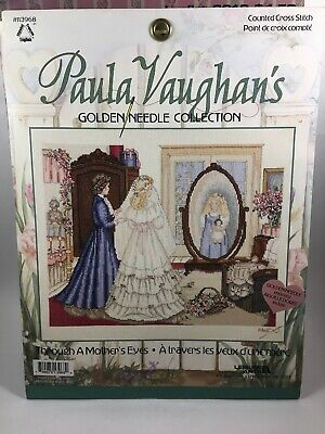 Paula Vaughans Unfinished Project Leisure Arts Cross Stitch Mothers Eyes