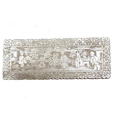 Chinese Antique Finely Carved Double Sided Mother of Pearl Gaming Token
