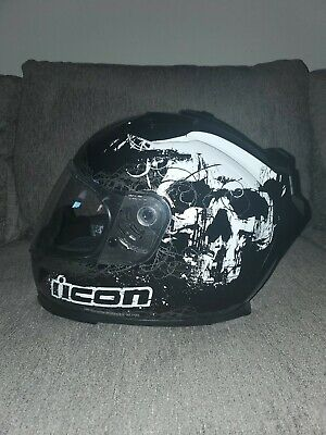 Icon full face Domain motorcycle helmet xl Decay